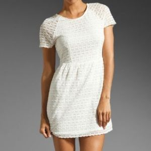 Free People Candy Woven Ivory/Cream Lace Dress
